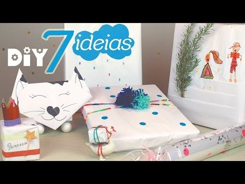 Embrulho de presente com papel branco / Gift wrapping with white paper