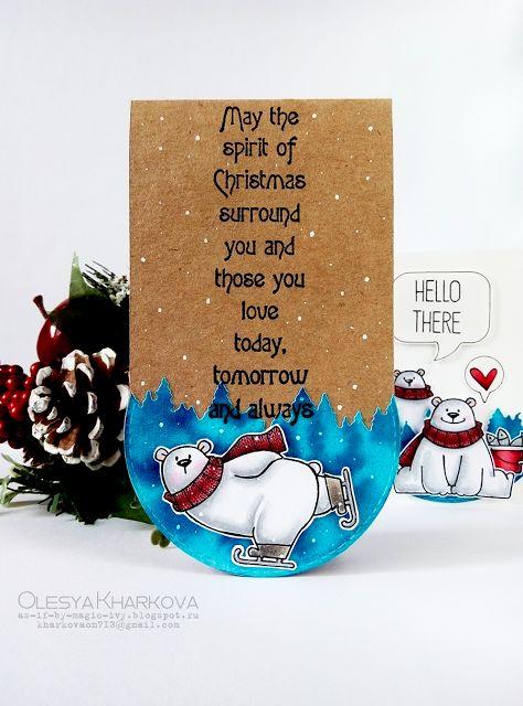 As if by magic by Olesya Kharkova: Polar bears | Holiday cards