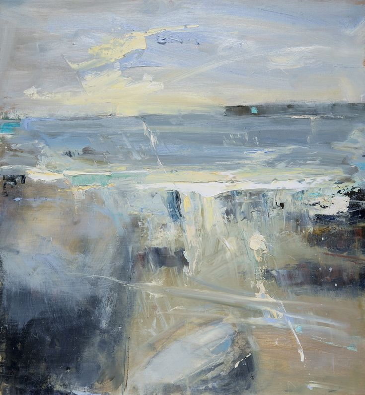 Hannah Woodman, 'Sennen beach, Sunny June' 2014 Oil on board