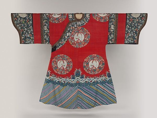Birthday or Ceremonial Robe with Crane Medallions | Qing Dynasty 19 th Century China