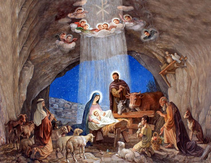 Image result for jesus birth scene