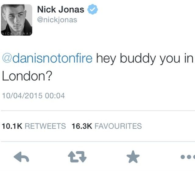 The legendary tweet- and he wasn't in London. He was in Tokyo with Phil!!!