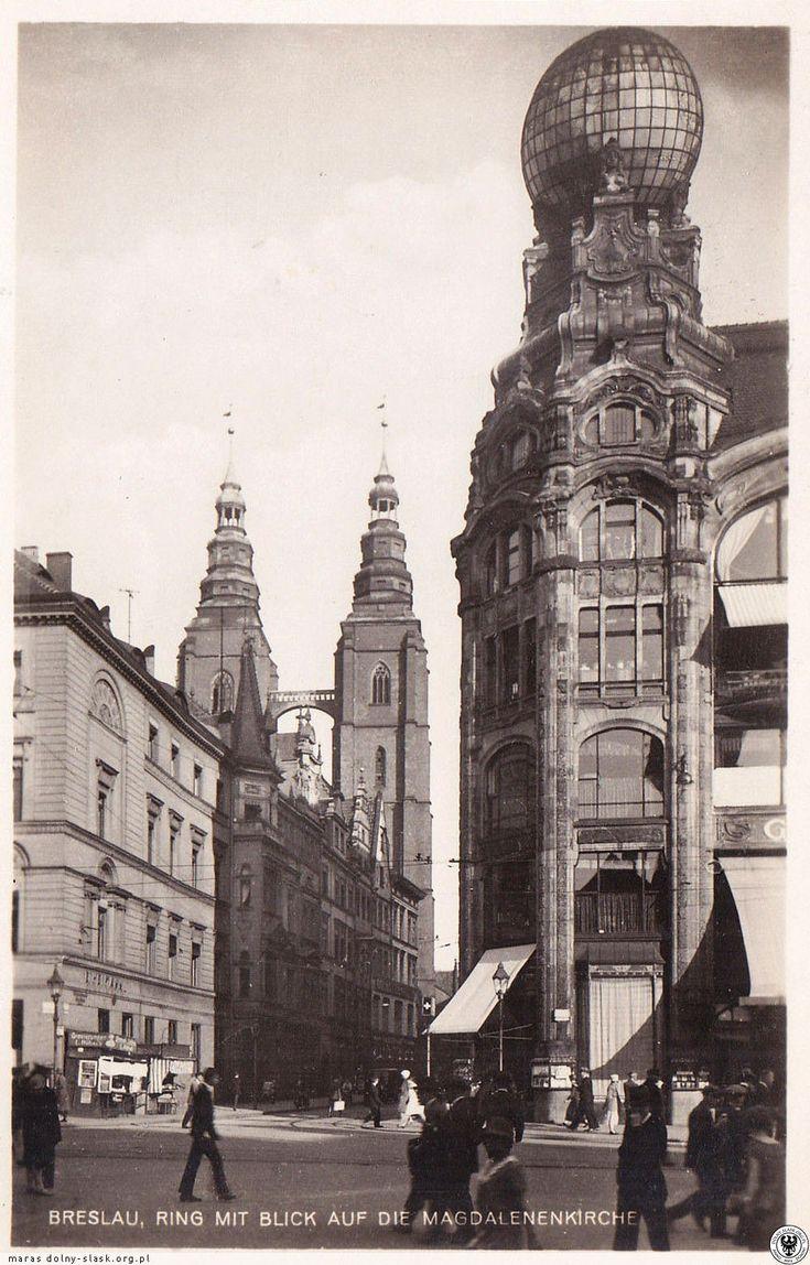 Breslau,Ring mit Blick auf die Magdalenenkirche 1920er