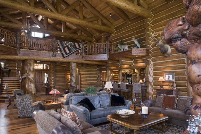 Pin by mary c on log cabins pinterest Log homes interiors