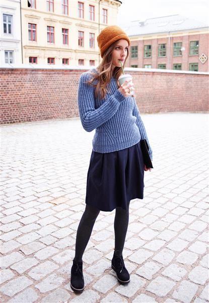 1411: Modell 5 Genser og 6 Lue #alpakka #strikk #knit