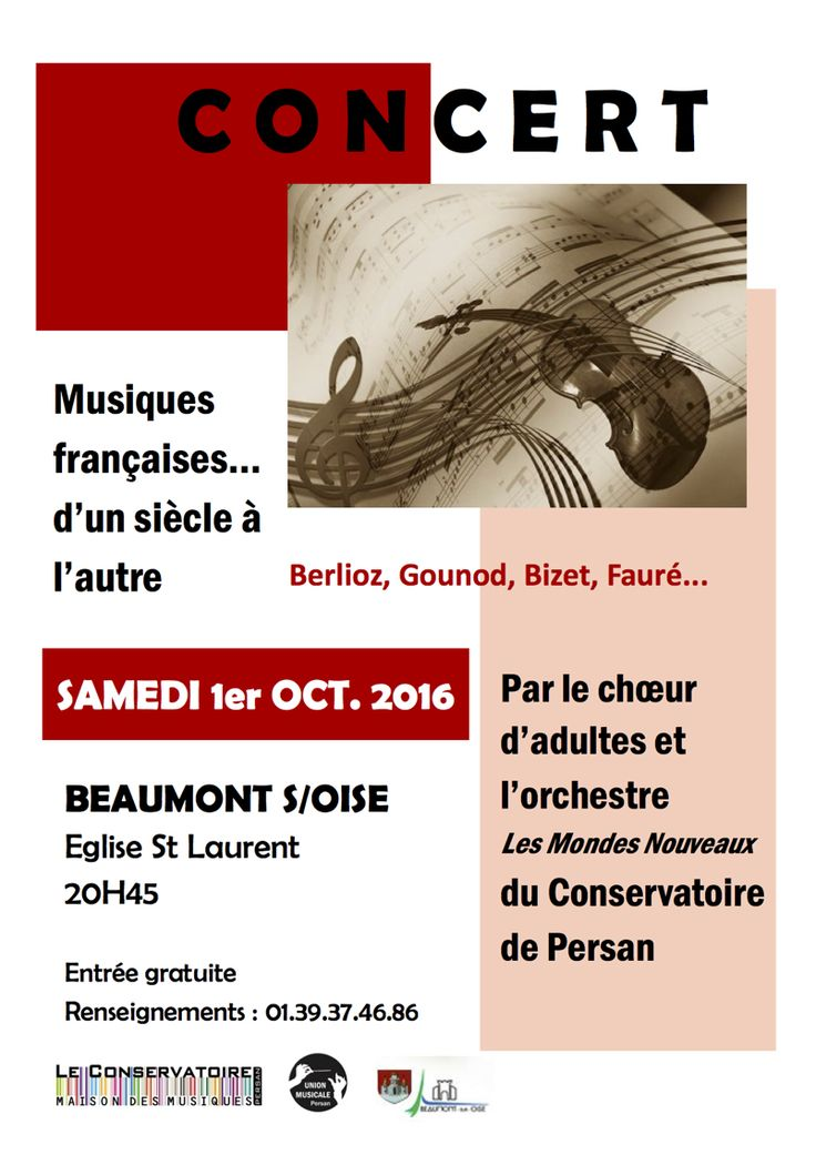 Concert des «MondesNouveaux» le 1er octobre 2016 en l'Église Saint Laurent de Beaumont-sur-Oise à 20h45.