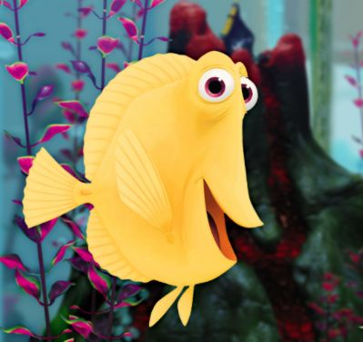 Bubbles finding nemo on the screen movie scenes from for Bubbles fish finding nemo
