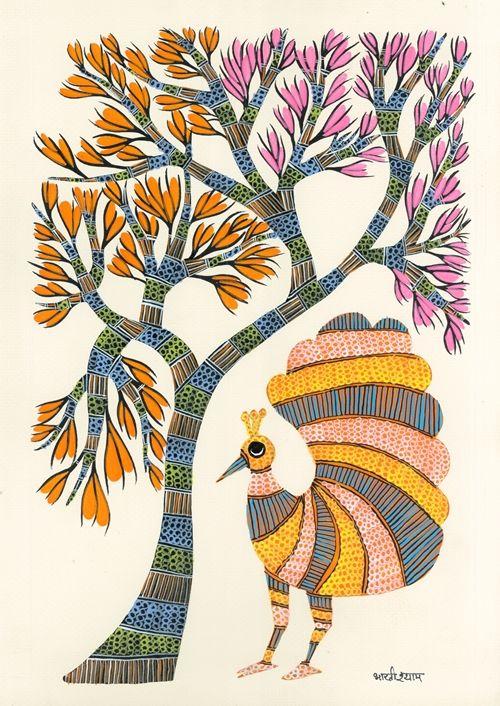 木と鳥 25.6㎝×36㎝ 紙
