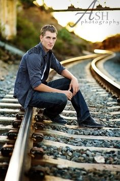 boy senior picture ideas - Google Search What is with all the train tracks?…