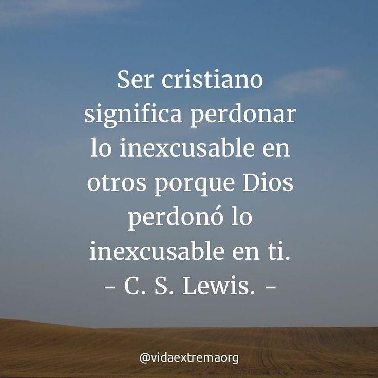 El escritor C. S. Lewis dijo en una ocasión esta interesante frase acerca de perdonar a los demás. #Perdón #DiosEsAmor #Iglesia Imágenes cristianas gratis