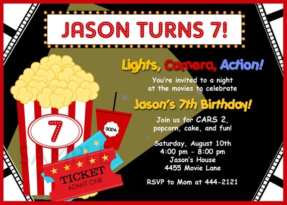 17 best Movie Ticket Invitation Template images on Pinterest - movie themed invitation template