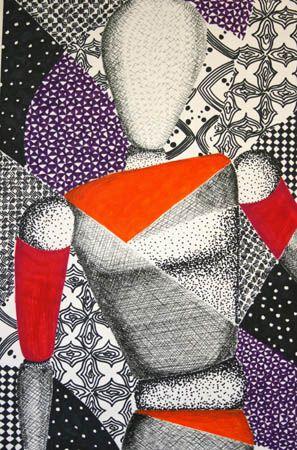 Compositie met decoratieve patronen