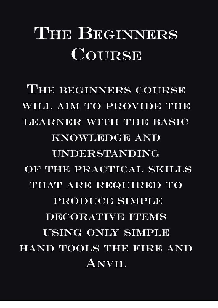 Begineers Blacksmith course