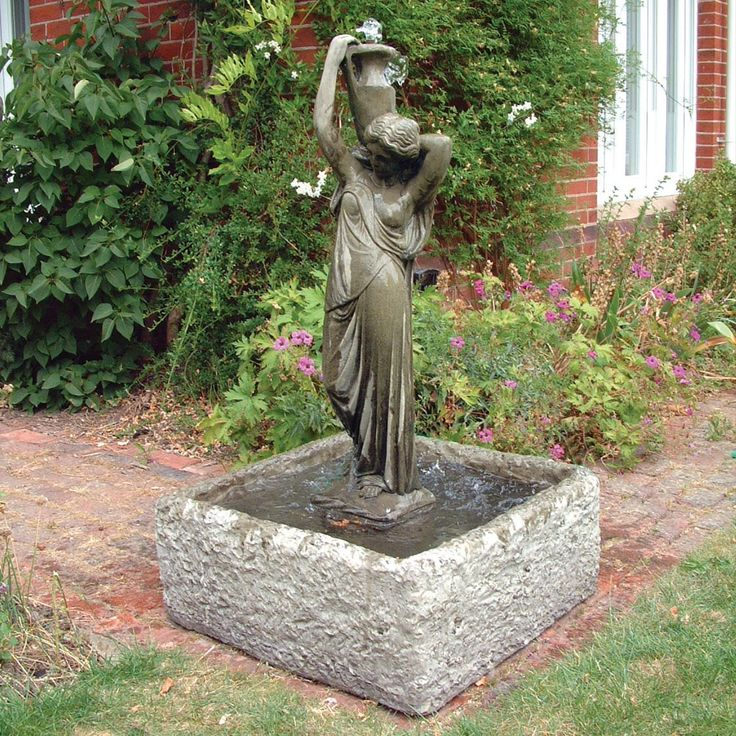 Garden Statue Water Fountain Garden Statues Add Interest To A Yard, Deck Or  Patio
