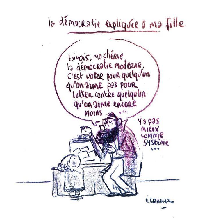 La soirée électorale de Terreur graphique - Libération