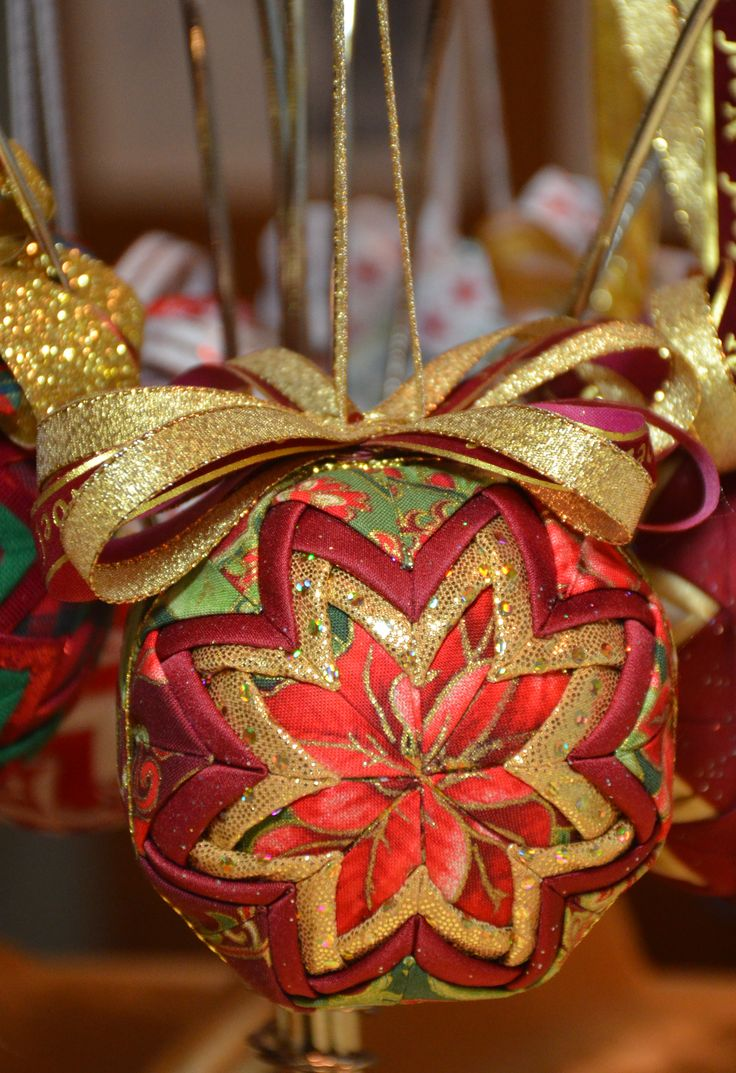 44 best My Quilted Ornaments images on Pinterest | No sew ... : quilted ornaments to make - Adamdwight.com