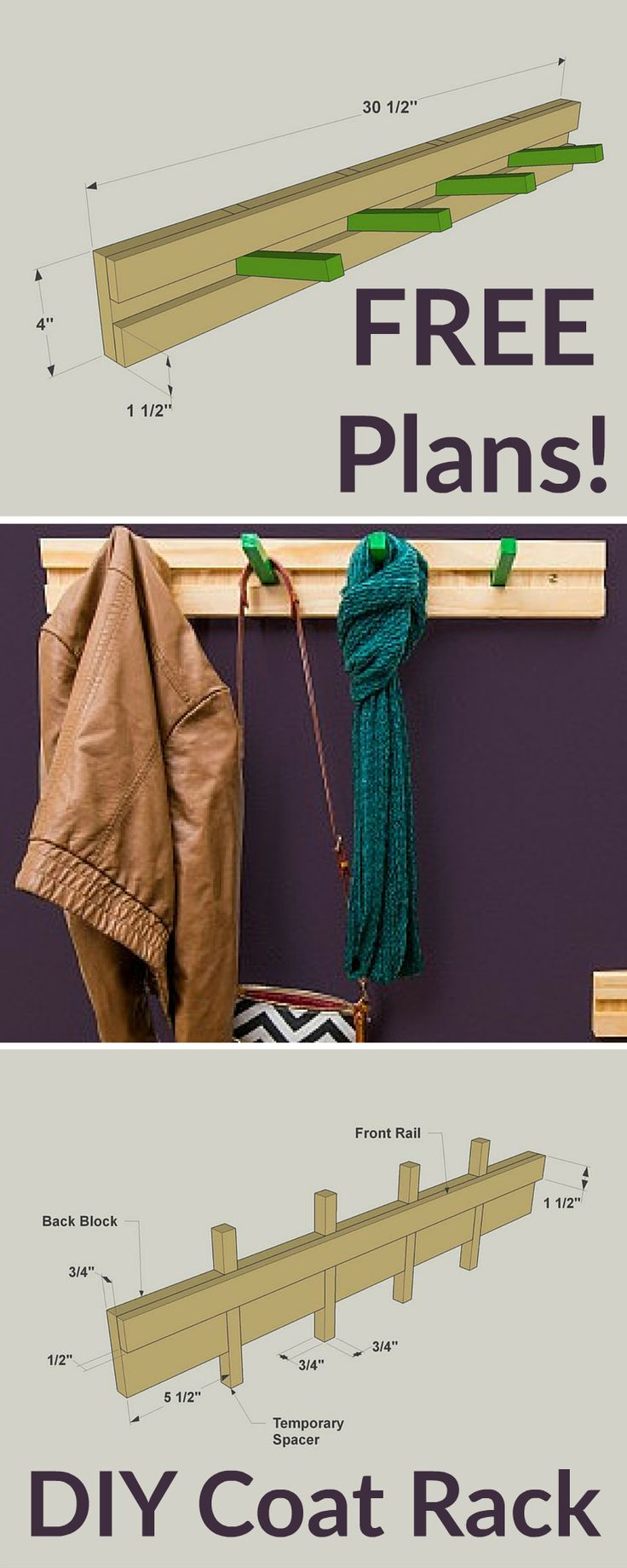 how to build piano coat rack