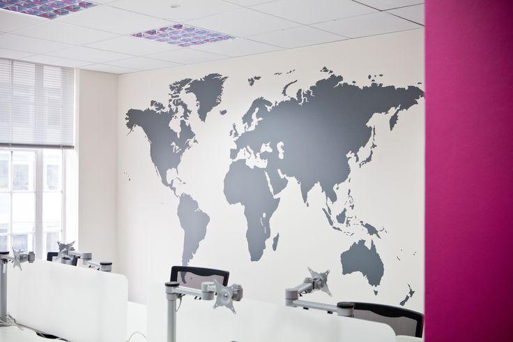 Http://www.vinylimpression.co.uk World Map Wall Sticker In