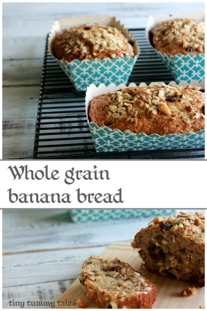 Greek yogurt, walnut, & raisin banana bread- healthy kids' snack recipe! Soft & delicious!