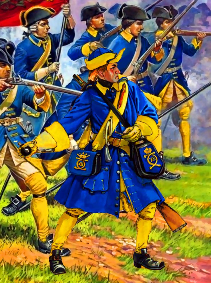 Swedish Life Guard Grenadier in battle
