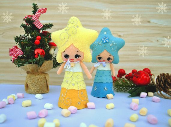 #christmas #felt #baby #minimez #etsy #tree #topper #star #noialand