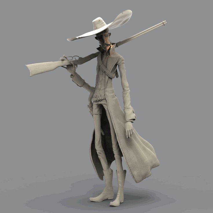 Character Design Zbrush : Artstation cowboy losha magee d stylized pinterest