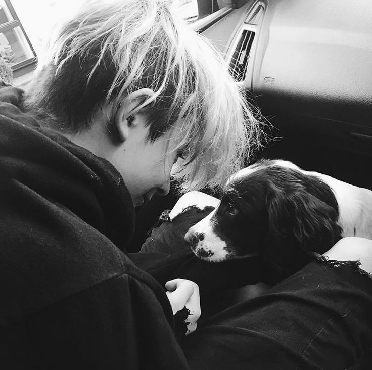 Leo and his dog, Yuki