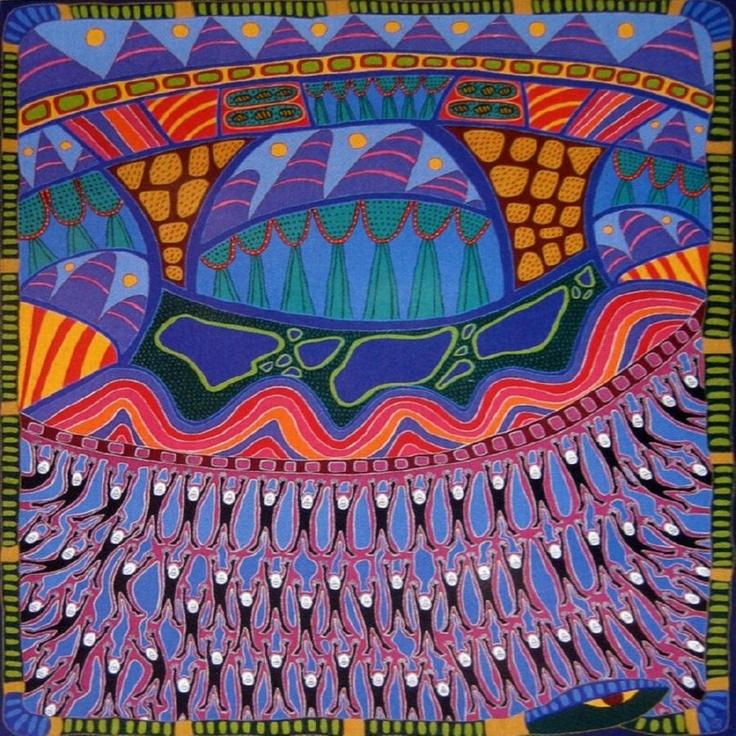 I love the work of Australian aboriginal artist Sally Morgan.