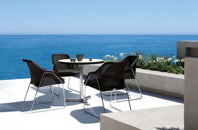 Mood wicker dining chairs and bistro table by Manutti http://www.coshliving.com.au/outdoor-brands/manutti/mood-manutti/