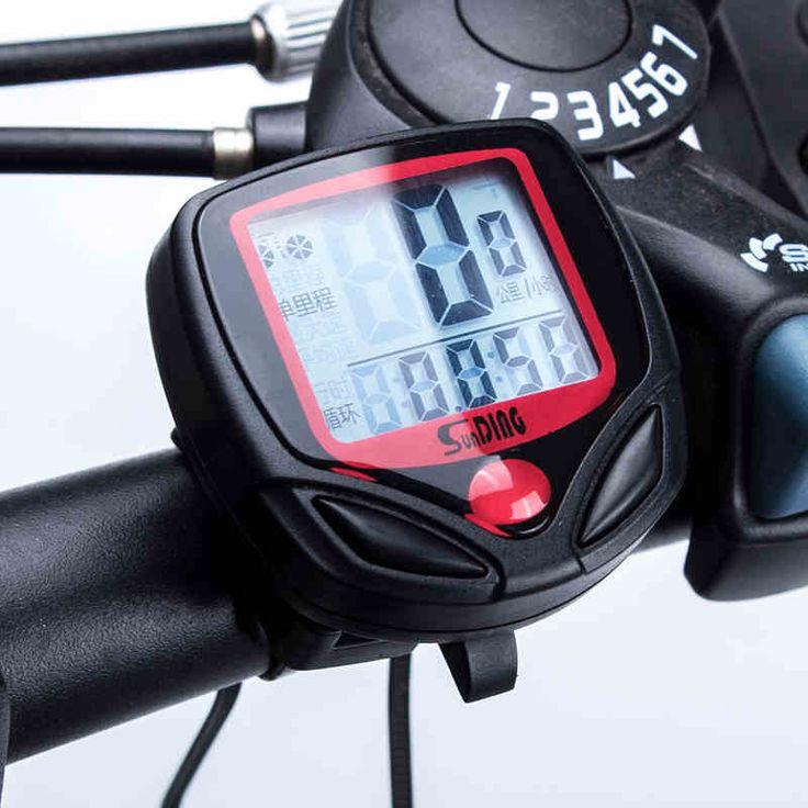 Waterproof LCD Digital Bicycle Computer Odometer Voltmeter MTB Road Bike Speedometer Accessories 14-Functions Bike Computer