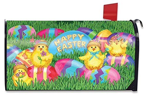 Mailbox Covers - Happy Easter Chicks Magnetic Mailbox Cover Holiday Briarwood Lane Standard >>> You can get additional details at the image link. (This is an Amazon affiliate link)