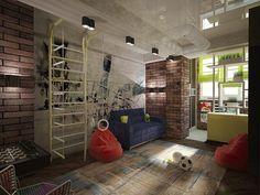 Комната для мальчика в 2-комнатной квартире. Детская