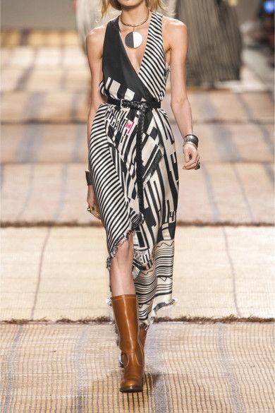 Etro - Printed Silk Maxi Dress - Black - IT38