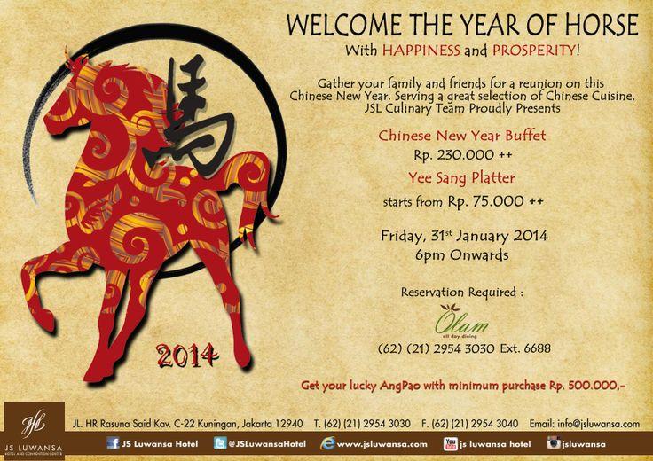Celebrate Chinese New Years 2014 with us! #food #jsluwansa #yummy #drink #eat #dine