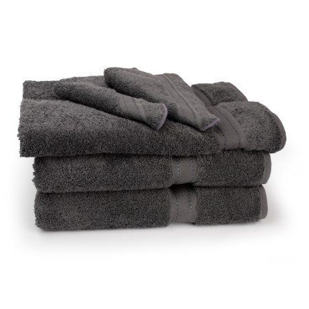 Cambridge Grand Egyptian Egyptian Cotton Towel Set (6 Pieces), Gray