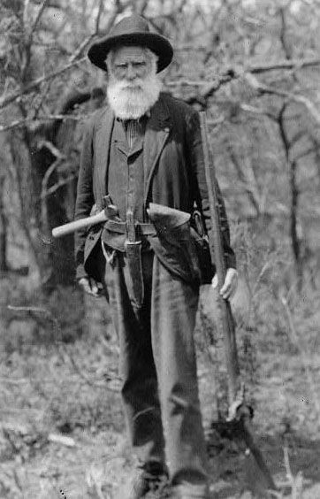 Daniel Freeman, the first person to acquire land under the Homestead Act, in Beatrice, Nebraska, 1863.