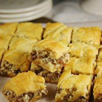 Perfect holiday party food! Crescent Sausage Bites by Pampered Chef