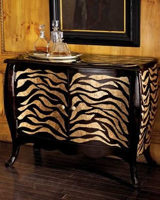 Tiger Print Chest from Neiman Marcus