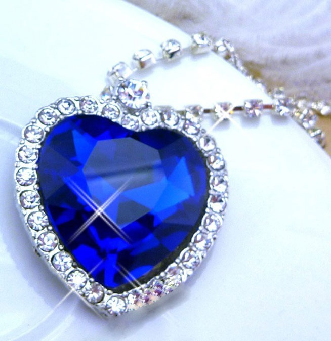 Pin By Angelique Cunningham On Am I Blue Blue Diamond Engagement Ring Blue Crystal Necklace Blue Diamond