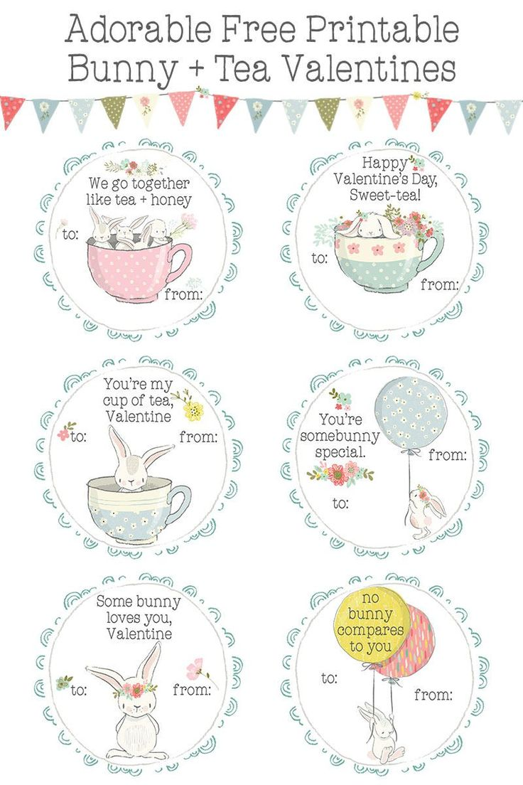 Are you searching for quick, easy, and adorable FREE printable Valentine cards for her classroom? Check out these precious bunnies with balloons, flowers and tea cups - they'll save you hours of glue and glitter + they're the sweetest! https://blog.littlegirlspearls.com/bunnies-tea-printable-valentines-day-cards-for-kids/ ♥️ Little Girl's Pearls | #valentine #valentinesforkids #valentinecards #classroomvalentines #bunnies #teacups #pastel #freeprintable