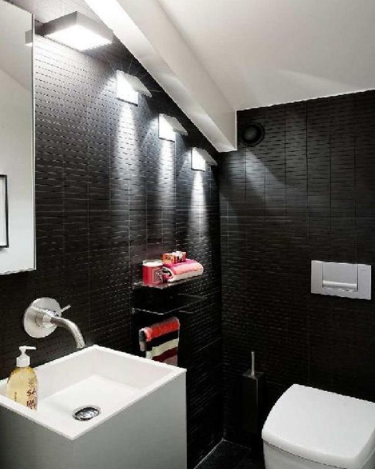 Stunning Gray And Black Bathroom Ideas Photos - Home Decorating ...