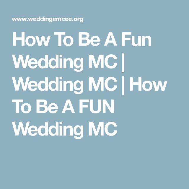 How To Be A Fun Wedding MC | Wedding MC | How To Be A FUN Wedding MC