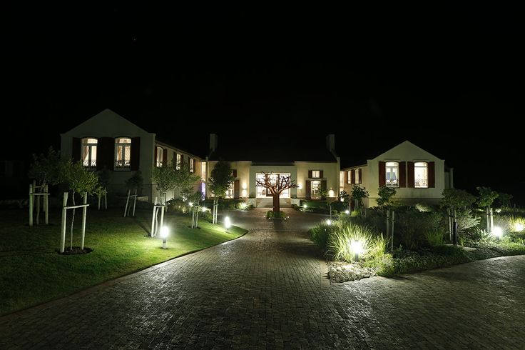 The Manor at night
