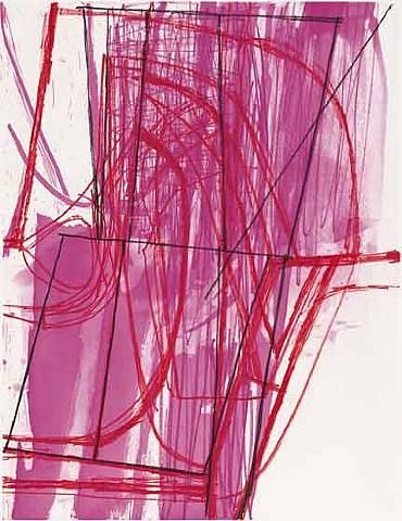 Amy Sillman—N&V, 2007, color soft ground etching with soap ground and spit bite aquatints.