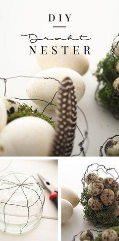 Zauberhafte Nester aus Draht – ein DIY zu Ostern von Sodapop-Design