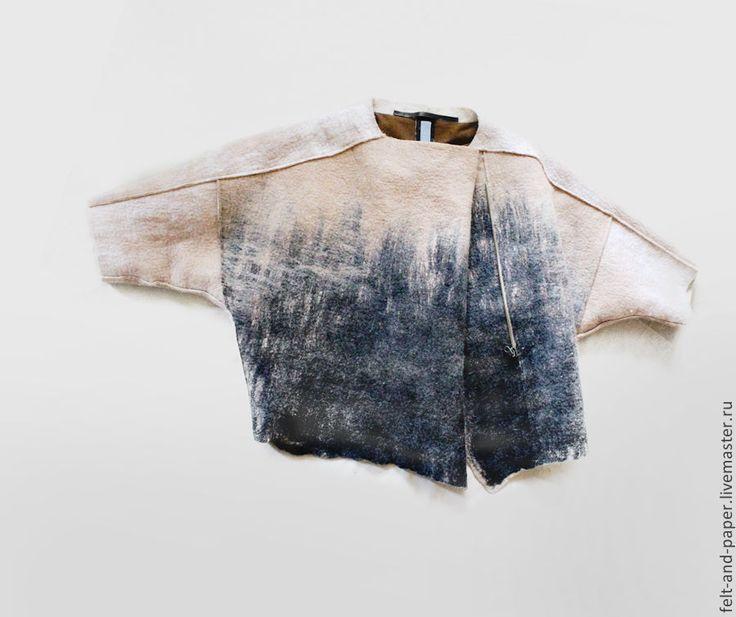 Купить Полу-пальто из коллекции RabFac - бежевый, Полу-пальто, Бежевое пальто, короткое пальто