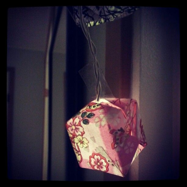 Origami box decoration lights