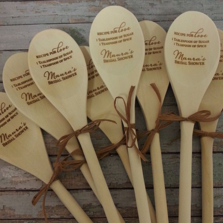 Recipe for Love Wooden Spoons Wedding by PersonalizedGallery