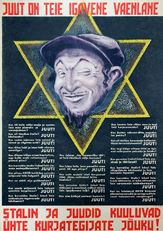 Lithuanian poster equating Jews to Stalinism, 1941.