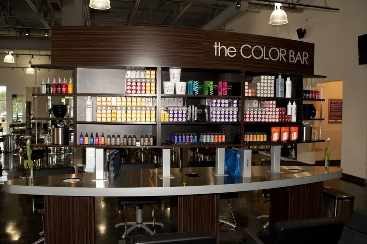 Stunning color bar from Paul Mitchell The School
